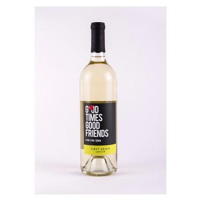 Love Cork Screw Good Times Good Friends Pinot Grigio White Wine - 750ml Bottle