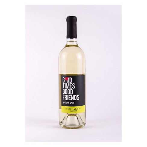 Love Cork Screw Good Times Good Friends Pinot Grigio White Wine - 750ml Bottle - image 1 of 1