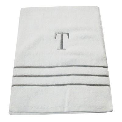 Monogram Hand Towel T - White/Skyline Gray - Fieldcrest®