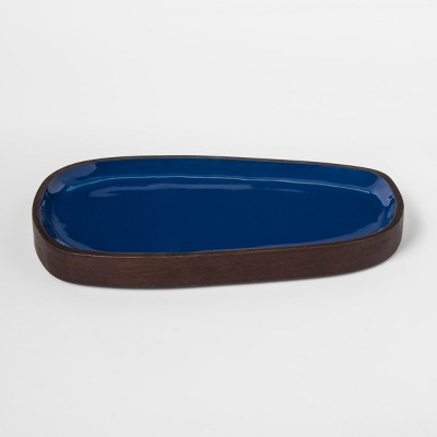 Enamel and Wood Tray - Teal - Project 62™