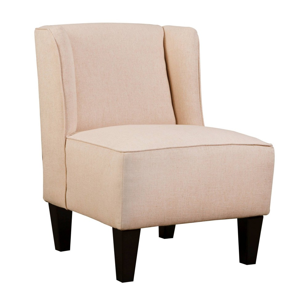 Image of Charlie Winged Slipper Chair Herringbone Pattern Blush - Chapter 3