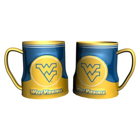 West Virginia Mountaineers Boelter Brands 2 Pack Game Time Coffee Mug - Yellow/ Blue (20 oz) - image 1 of 1