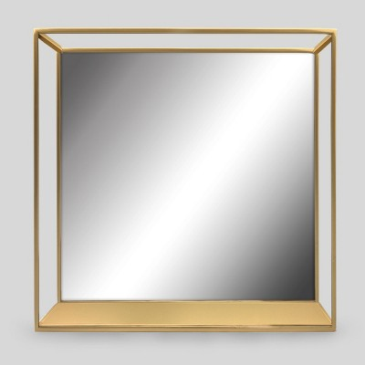 Decorative Wall Mirror and Shelf Brass - Project 62™