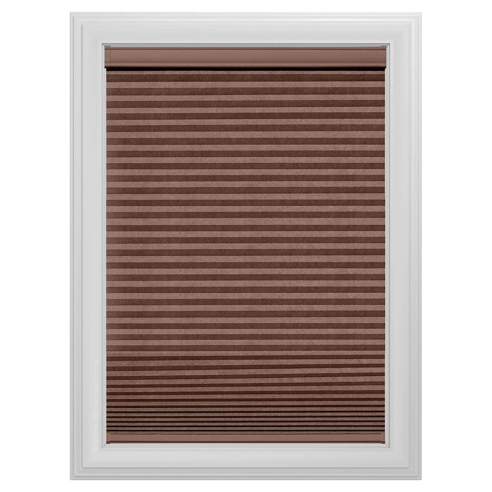 Cordless Light Filtering Cellular Shade Slotted Window Blind Truffle 43x64 - Bali Essentials, Brown
