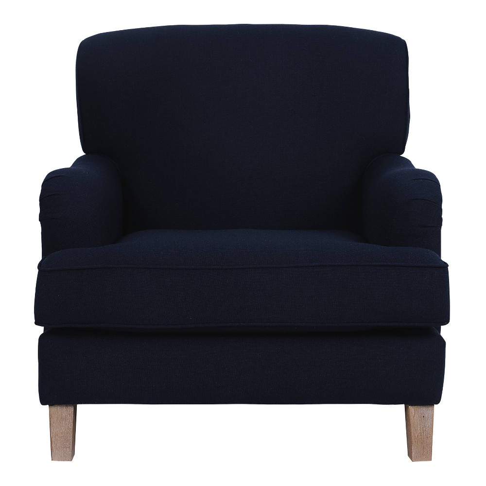 "Image of ""24"""" Amelie Mid-Century Modern Arm Chair - Adore Décor, Blue"""