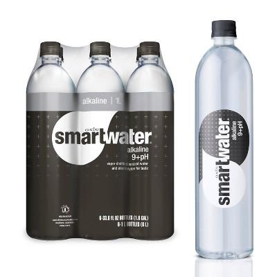 Smartwater Alkaline Vapor Distilled Ionized Water - 6pk/1L Bottles