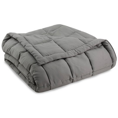 King Down Alternative Bed Blanket Light Gray - Serta