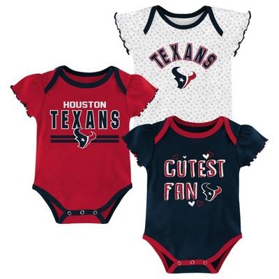 NFL Houston Texans Baby Girls' Bodysuit Set 3pk