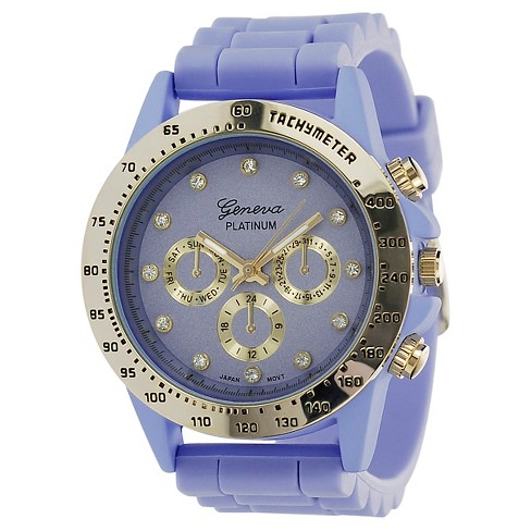 Women's Geneva Platinum Silicone Strap Watch - image 1 of 3