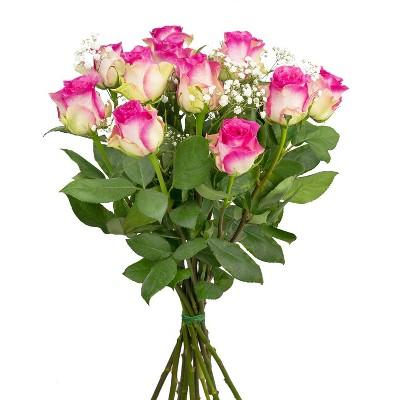 Colour Republic Pink Rose + Gypsophila Bouquet