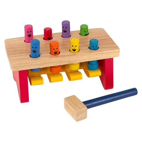 Melissa & Doug® Deluxe Pounding Bench Wooden Toy With Mallet - image 1 of 5