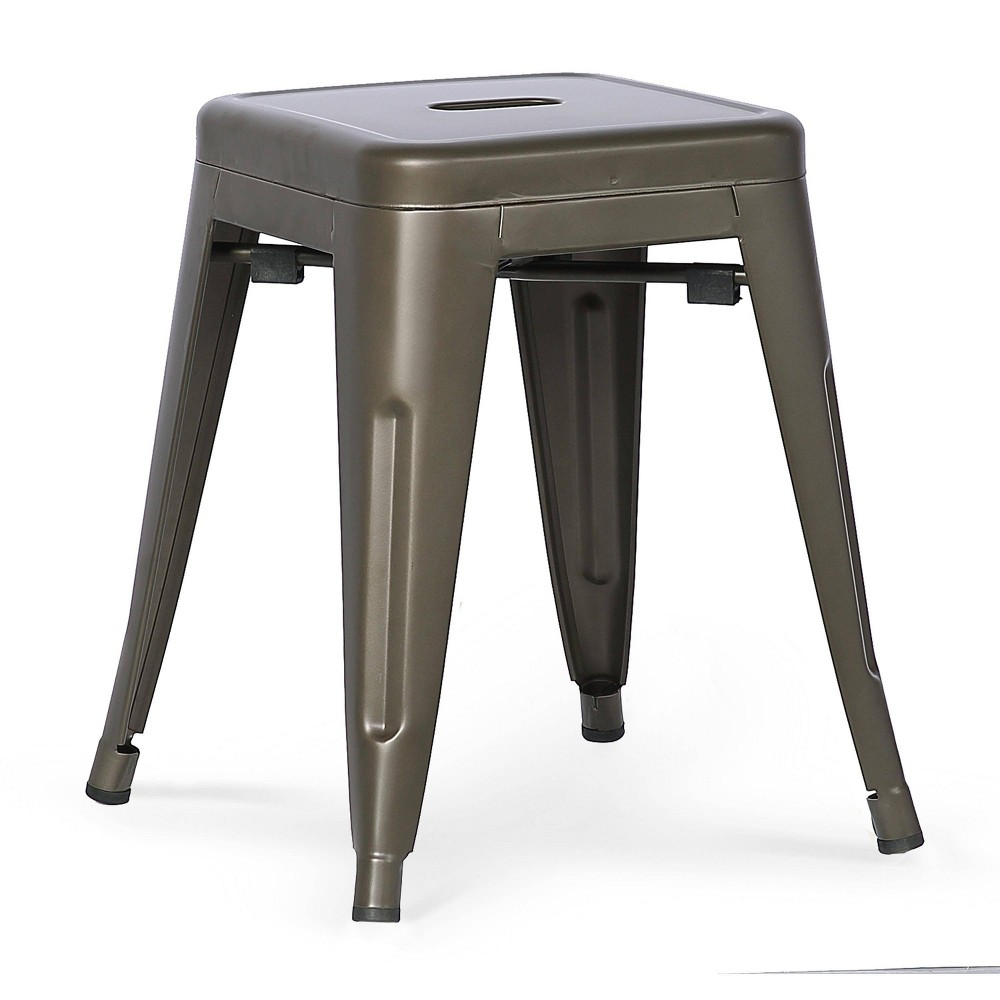 "Image of ""18"""" Franco Industrial Stool Bronze - Poly & Bark"""