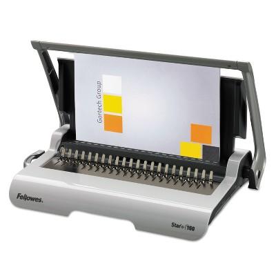 Fellowes Star+ 150 Manual Comb Binding Machine 17 11/16 x 9 13/16 x 3 1/8 White 5006501