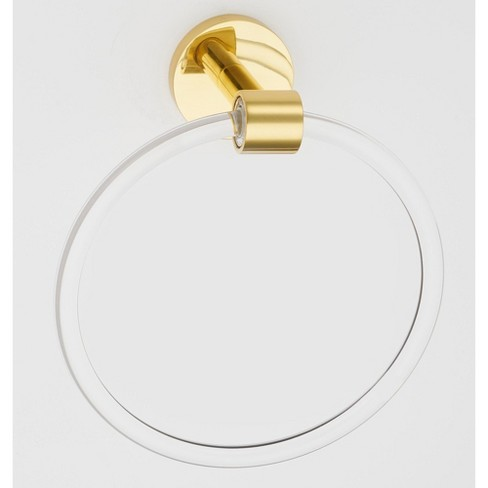 """Alno A7240 Contemporary Acrylic 6"""" Diameter Towel Ring - image 1 of 1"""
