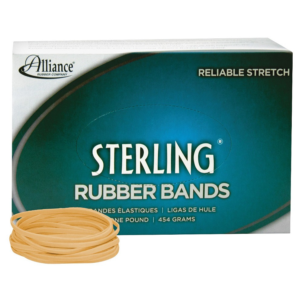 Image of Alliance Sterling Ergonomically Correct Rubber Bands, #33, 3-1/2 x 1/8, 850 Bands/1lb Box