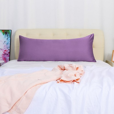 "Body(20""x54"") Silk Satin for Hair and Skin Pillow Cases Purple - PiccoCasa"
