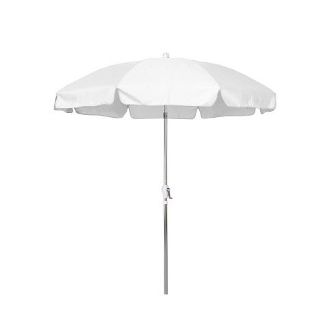Round Crank Patio Umbrella - White 7.5' - image 1 of 3