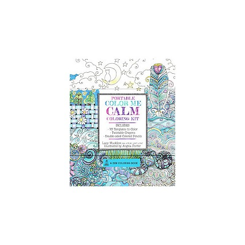 portable color me calm 70 coloring templates for meditation and relaxation