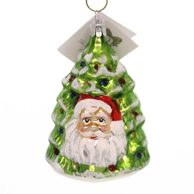 """Golden Bell Collection 4.0"""" Santa Face Tree Ornament Czech Christmas  -  Tree Ornaments"""
