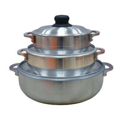 IMUSA 3pc Stamped Caldero Cookware Set, Silver