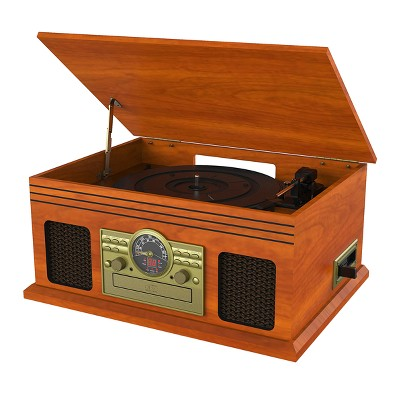 Victrola Classic 6-in-1 3-speed Turntable with Bluetooth - Mahogany (VTA-220B)