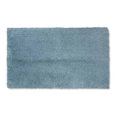 34 x20  Tufte Spa Bath Rug Aqua - Fieldcrest®