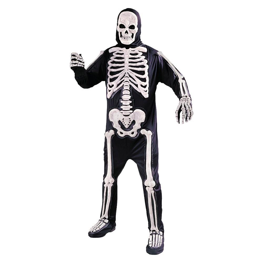 Men's Totally Skele-Bones Standard Costume One Size, Black