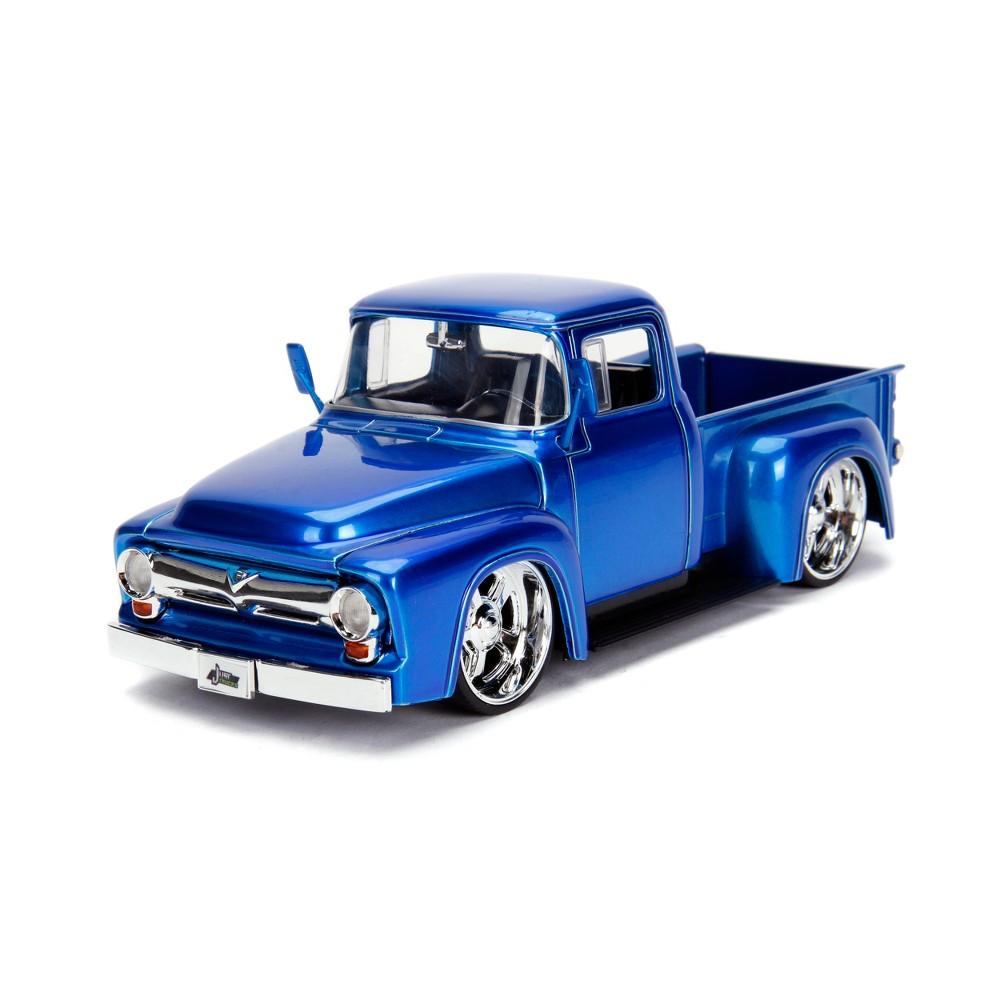 Chevy Silverado Pickup Truck Blue Jada Toys Just Trucks 97017 1 1951 1953 Chevrolet 1956 F100 Diecast 124 Scale