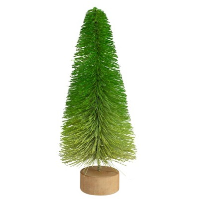 """Northlight 11"""" Green Pine Table Top Artificial Christmas Tree"""