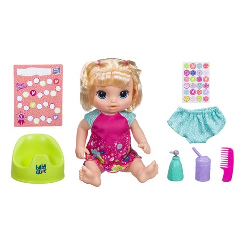 Baby Alive Potty Dance Baby Doll Blonde Straight Hair