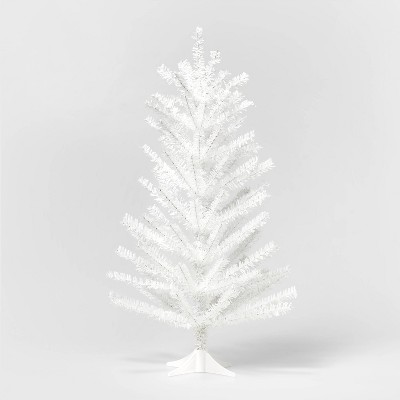 2ft Unlit Tinsel Christmas Tree White - Wondershop™