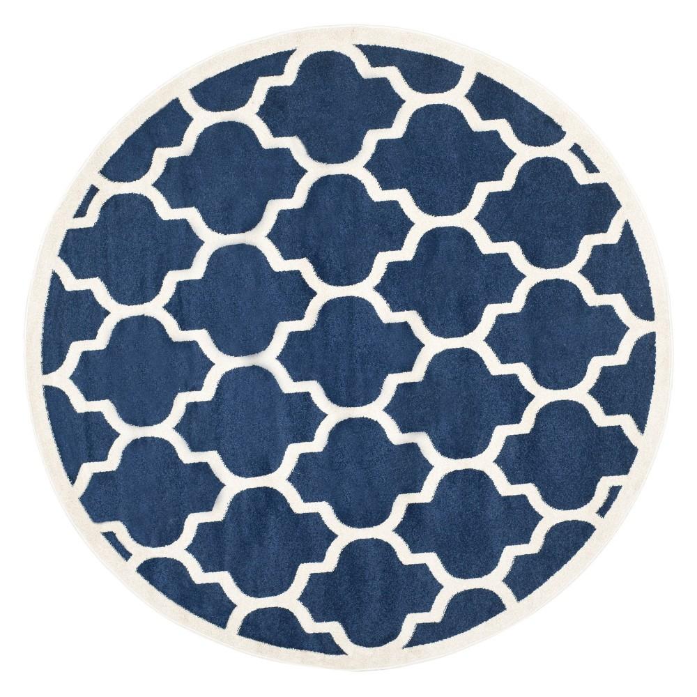 Clichy Rug 9'X9' Round - Navy/Beige (Blue/Beige) - Safavieh