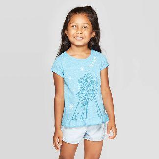 Toddler Girls' Frozen Free To Be Me Short Sleeve T-Shirt - Blue 18M