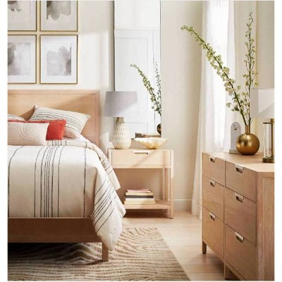 Porto Queen Bed Bleached Wood - Project 62™