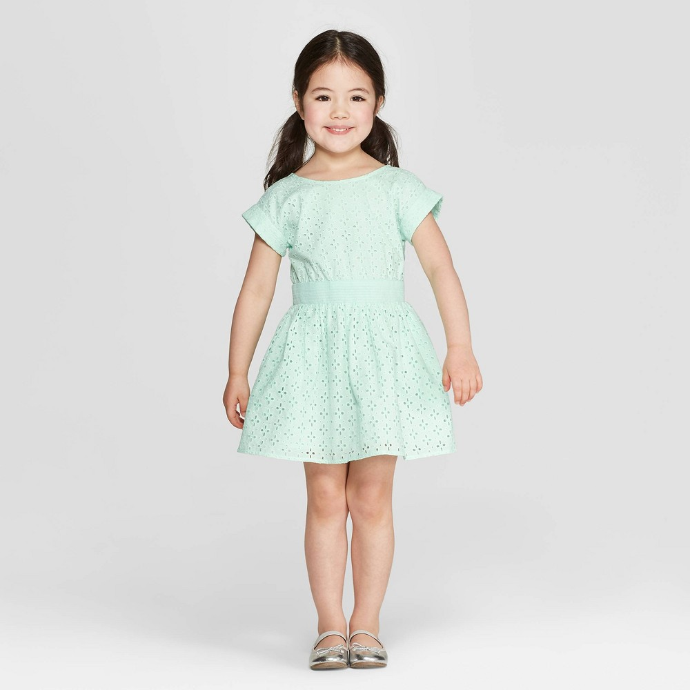 a59ae1585 Toddler Girls A Line Dresses Cat Jack Green 18M
