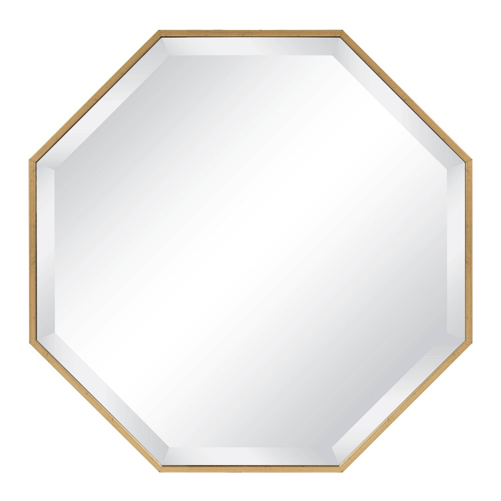 "Image of ""24.75""""x24.75"""" Rhodes Framed Octagon Wall Mirror Gold - Kate and Laurel"""
