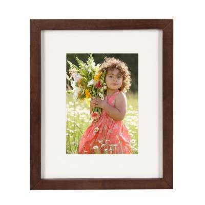 """8"""" x 10"""" Matted to 5"""" x 7"""" Gallery Tabletop Frame Walnut Brown - DesignOvation"""