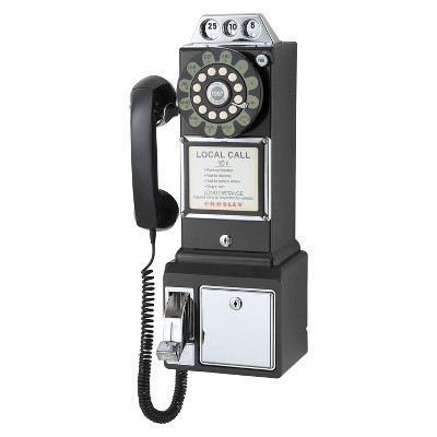 Crosley 1950's Pay Phone - Black (CR56-BK)