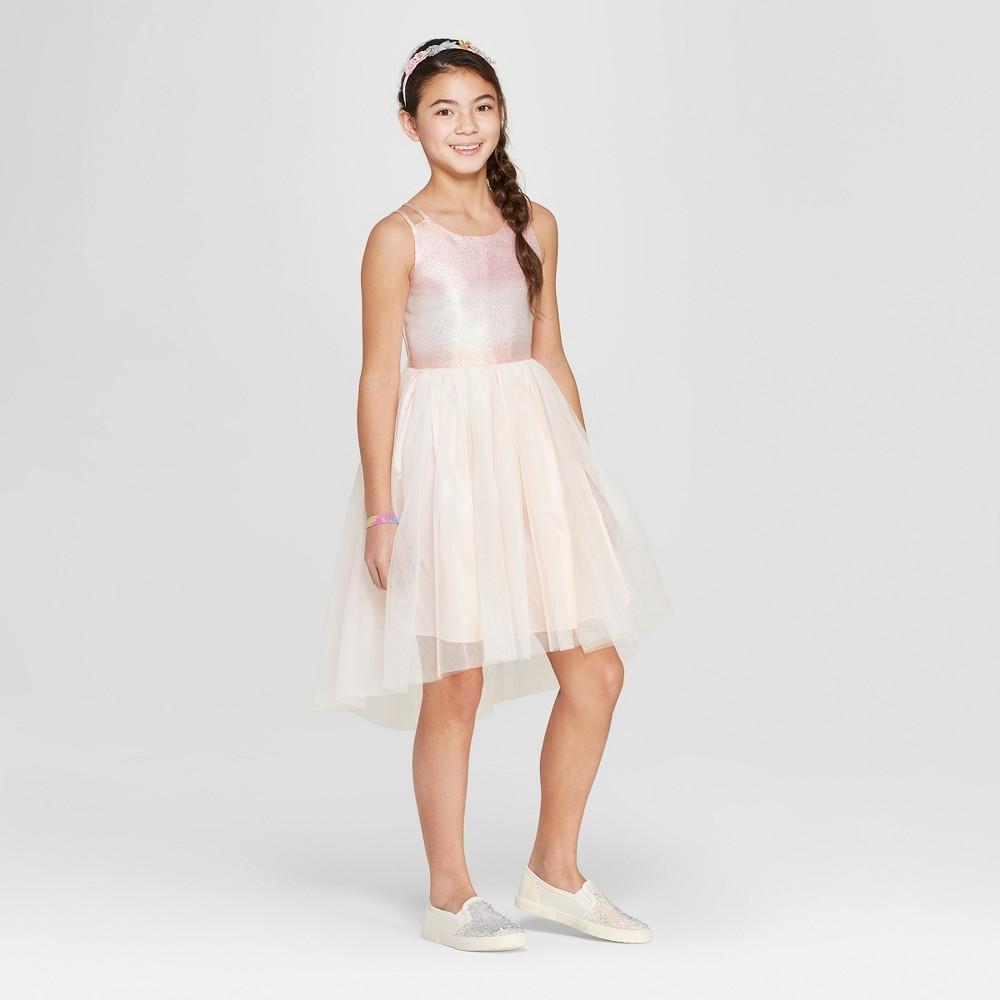 Best Review Girls Hi Lo A Line Dress Cat Jack Light Pink L