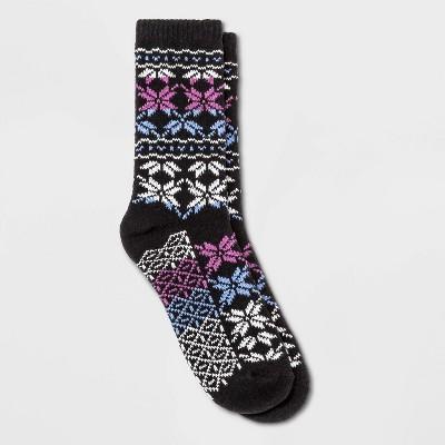 Warm Essentials by Cuddl Duds Women's Ombre Snowflake Crew Socks - 4-10