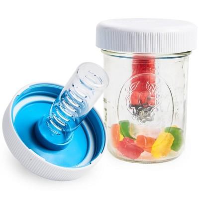 Masontops 2pk Jar Safe Child-Resistant Mason Jar Lids Wide White