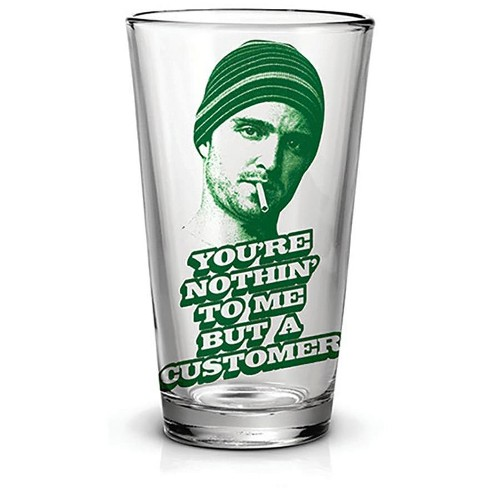 Just Funky Breaking Bad Jesse Just A Customer 16oz Pint Glass - image 1 of 1