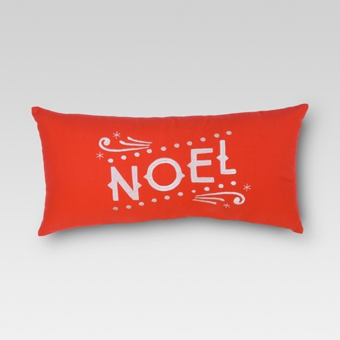 holiday outdoor pillow noel threshold - Christmas Outdoor Pillows