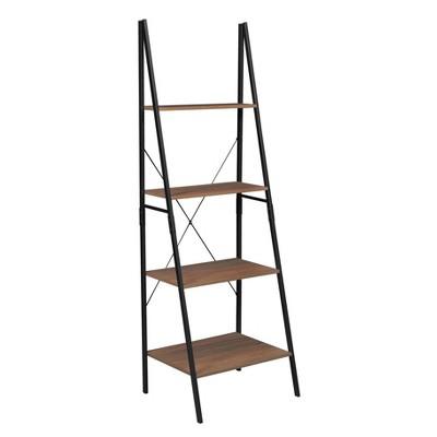 72  Nomad Ladder Bookcase Urban Walnut - Niche