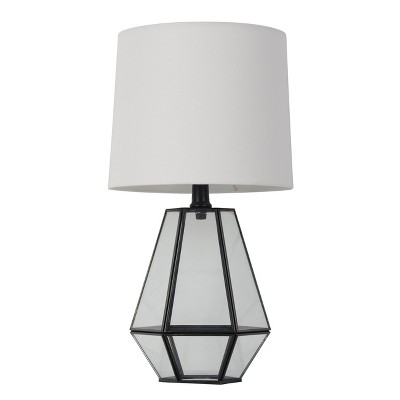 Glass Terrarium Accent Lamp Table Lamp Black (Includes LED Light Bulb)- Threshold™