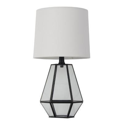 Glass Terrarium Accent Lamp Table Lamp Black - Threshold™