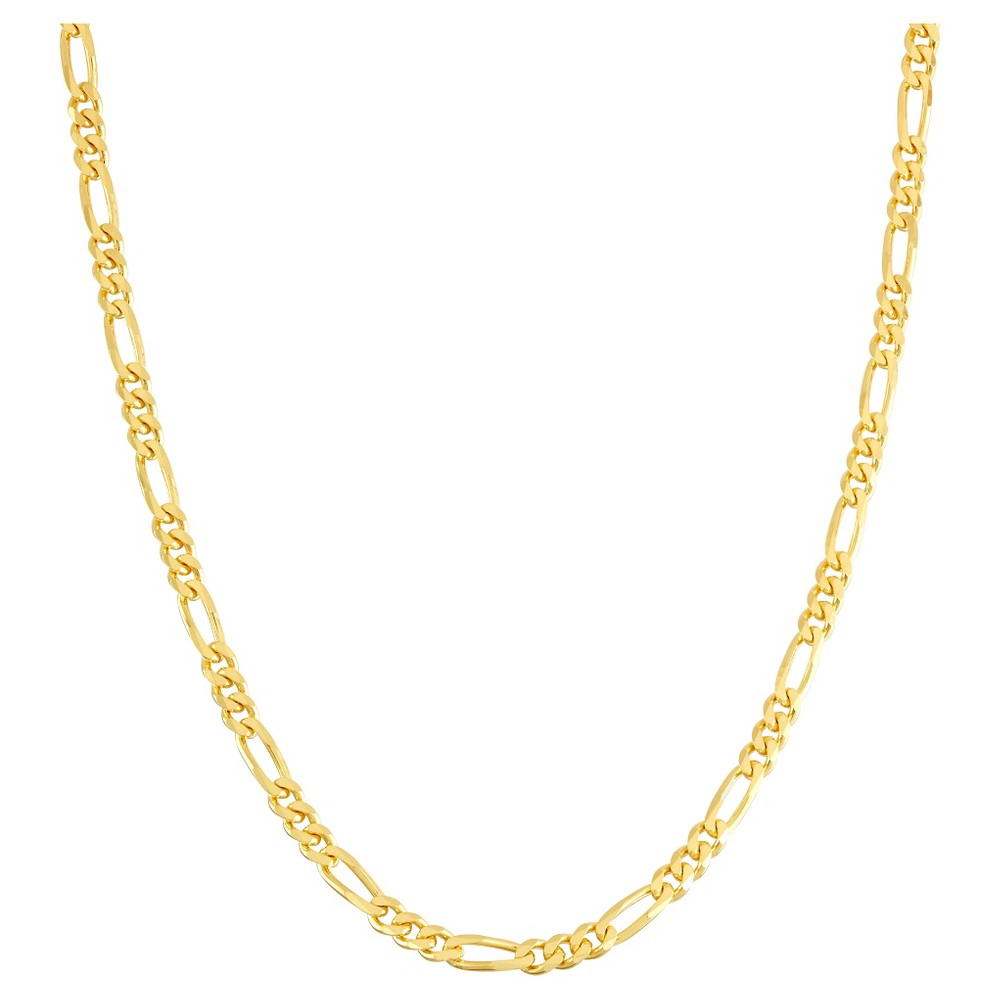 Tiara Gold Over Silver 30 Figaro Chain Necklace, Size: 30 inches