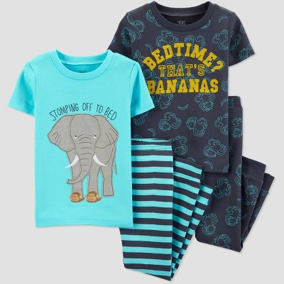 Baby Boys' 4pc Blue Elephant Pajama Set   Just One You® Made By Carter's Aqua/Navy by Just One You® Made By Carter's Aqua/Navy
