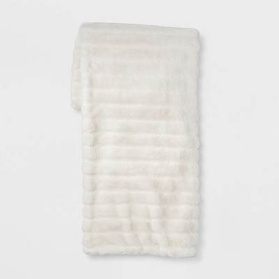 Cream Texture Faux Fur Throw Blanket 50 X60  - Project 62™