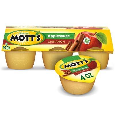 Mott's Cinnamon Applesauce - 6ct/4oz Cups